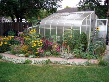 greenhouse with curved eaves